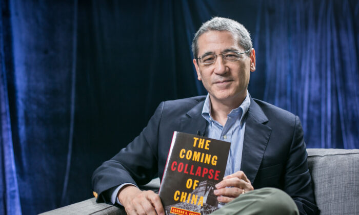 """Gordon Chang, author of """"The Coming Collapse of China,"""" in New York on Sept. 30, 2015. (Benjamin Chasteen/Epoch Times)"""