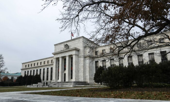 The Federal Reserve building in Washington on Dec. 12, 2018. (The Epoch Times)