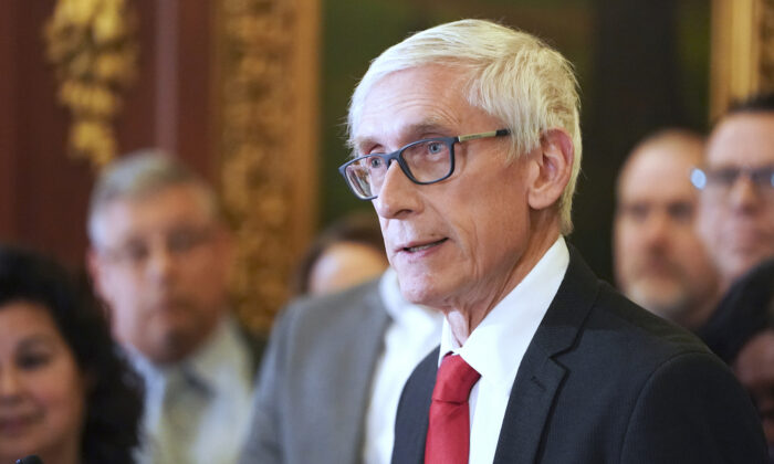 Wisconsin Gov. Tony Evers speaks in Madison, Wis., in a Feb. 6, 2020, file photograph. (Steve Apps/Wisconsin State Journal via AP)