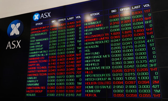 Australian Securities Exchange, operated by ASX Ltd. on March 16, 2020 in Sydney, Australia