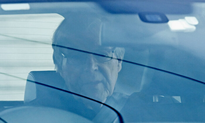 Cardinal George Pell leaves Barwon Prison in Victoria, Australia, on April 7, 2020. (Quinn Rooney/Getty Images)