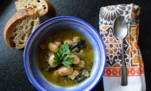 Slow-Cooked Beans and Greens, Andalusian-Style