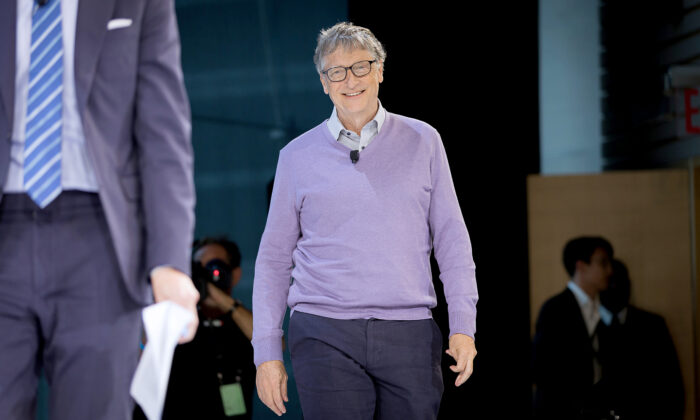 Bill Gates, co-chair, Bill & Melinda Gates Foundation speaks onstage at 2019 New York Times Dealbook in New York City, on Nov. 6, 2019. (Mike Cohen/Getty Images for The New York Times)