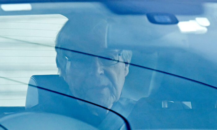 Cardinal George Pell leaves Barwon Prison in Geelong, Australia, on April 7, 2020. (Quinn Rooney/Getty Images)