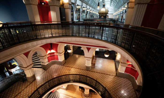 The interior of the Queen Victoria Building where retail stores are currently closed due to COVID-19 on April 1, 2020 in Sydney, Australia. (Cameron Spencer/Getty Images)