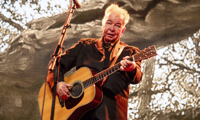 John Prine performing at the Bonnaroo Music and Arts Festival in Manchester, Tenn. on June 15, 2019. (Amy Harris/Invision/AP)