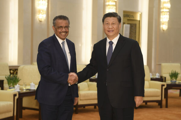 Tedros and Xi WHO and CCP