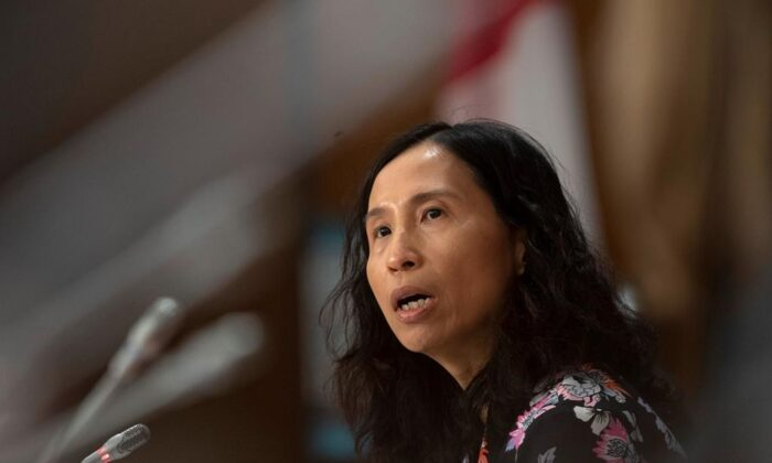 Chief Public Health Officer Theresa Tam responds to a question during a news conference in Ottawa on April 7, 2020. (The Canadian Press/Adrian Wyld)