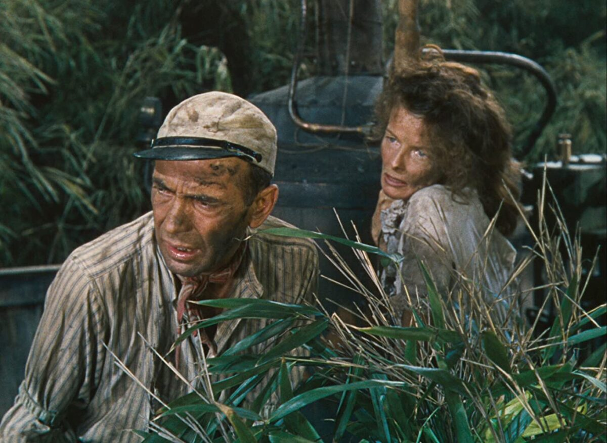 The African Queen-Hepburn and Bogard in swamp
