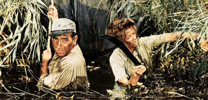 he African Queen-Hepburn and Bogard in swamp2