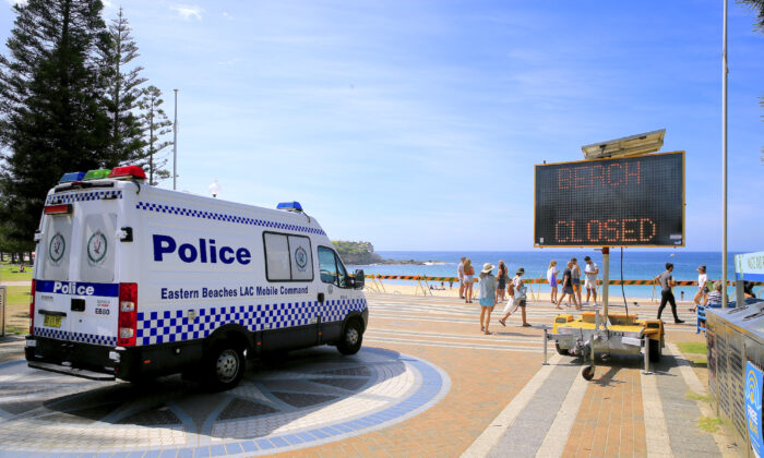 Coogee beach is closed in Sydney's eastern suburbs on March 22, 2020 in Sydney, Australia. (Mark Evans/Getty Images)