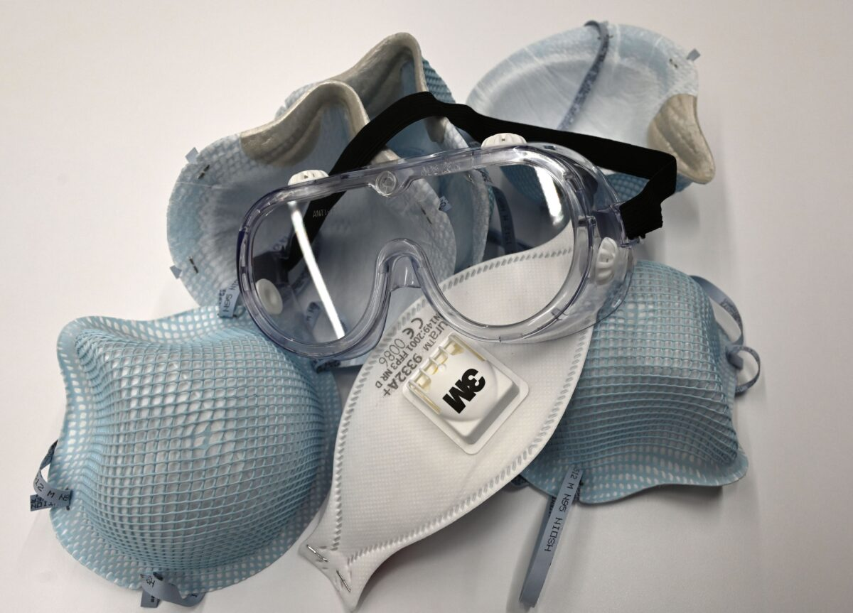 protective N-95 face masks
