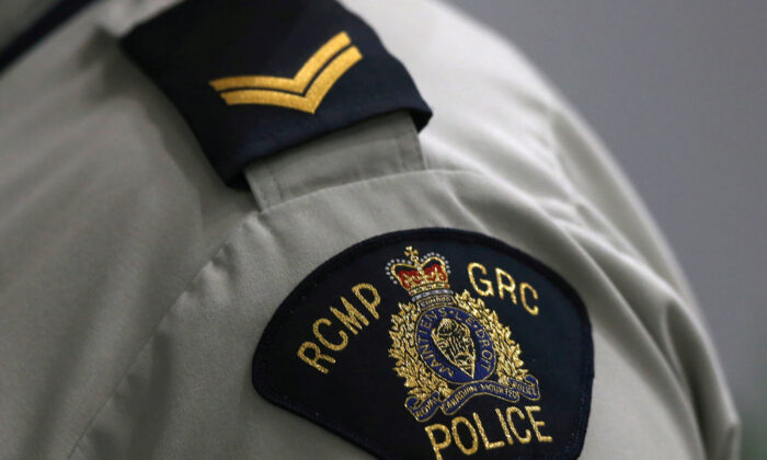 "A Royal Canadian Mounted Police (RCMP) crest is seen on a member's uniform, at the RCMP ""D"" Division Headquarters in Winnipeg, Manitoba Canada on July 24, 2019. (Shannon VanRaes/File Photo via Reuters)"