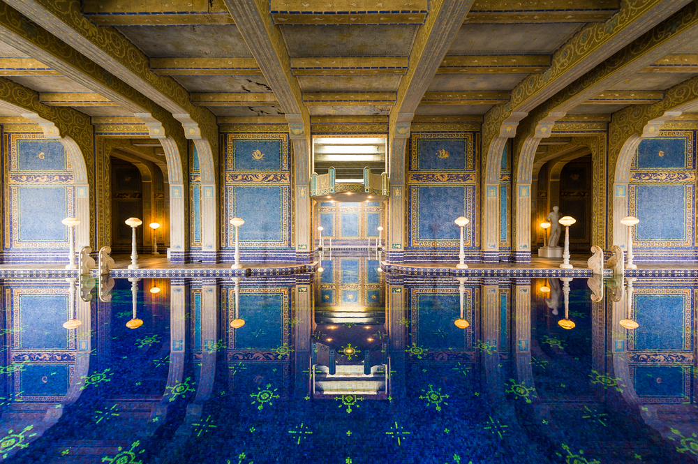 A luxurious swimming pool at Hearst Castle in San Simeon, Calif