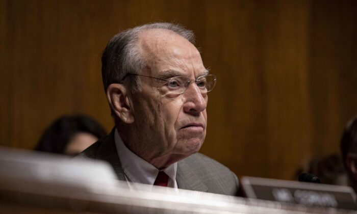 Sen. Chuck Grassley (R-Iowa) on Capitol Hill in Washington on June 11, 2019. (Anna Moneymaker/Getty Images)