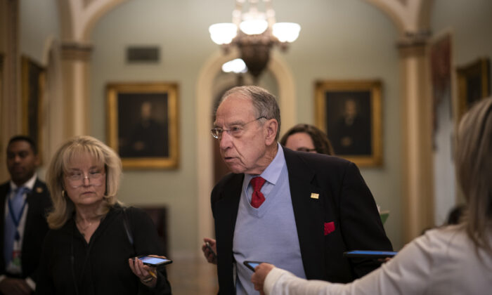 Sen. Chuck Grassley (R-Iowa) on Capitol Hill on March 16, 2020. (Drew Angerer/Getty Images)