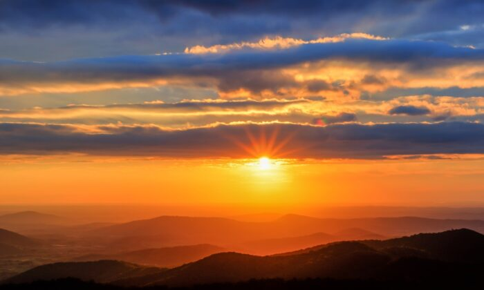 Virginia's Shenandoah National Park at sunrise.