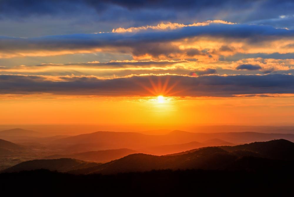Virginia's Shenandoah National Park at sunrise
