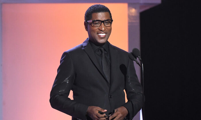 Babyface speaks onstage at the 2019 Soul Train Awards at the Orleans Arena in Las Vegas, Nevada, on Nov. 17, 2019. (Paras Griffin/Getty Images for BET)