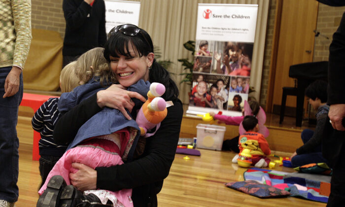 MELBOURNE, AUSTRALIA - JUNE 04: In this handout photo provided by Save The Children, American actress Pauley Perrette, better known as forensic expert Abby Sciuto in the TV show NCIS. (Photo by Luis Ascui/Save The Children via Getty Images)