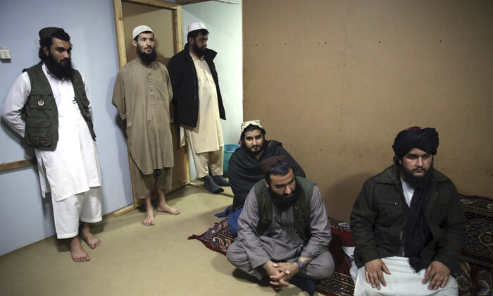 Jailed Taliban are seen during an interview to The Associated Press inside the Pul-e-Charkhi jail in Kabul, Afghanistan on Dec. 14, 2019. (Rahmat Gul/AP Photo)