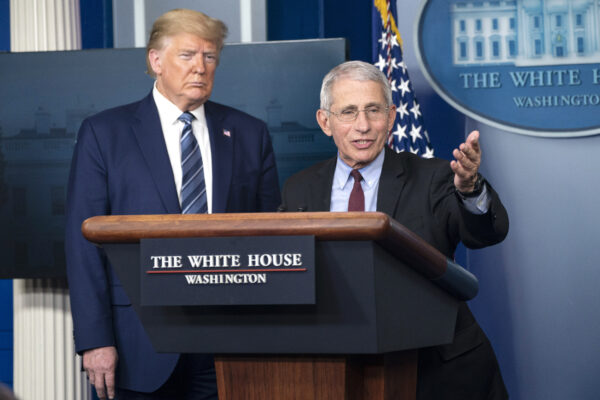 Anthony Fauci and Trump