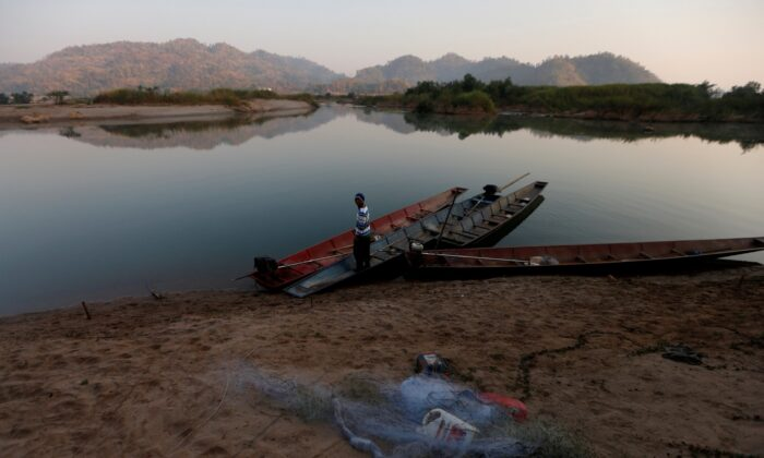 General view of Mekong River, Ban Namprai village, Nong Khai province, Thailand,  on Oct. 8, 2019. (Panu Wongcha-um/Reuters)