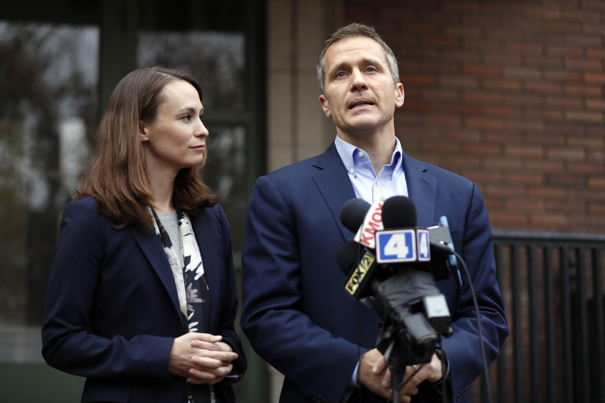 Eric Greitens and his wife