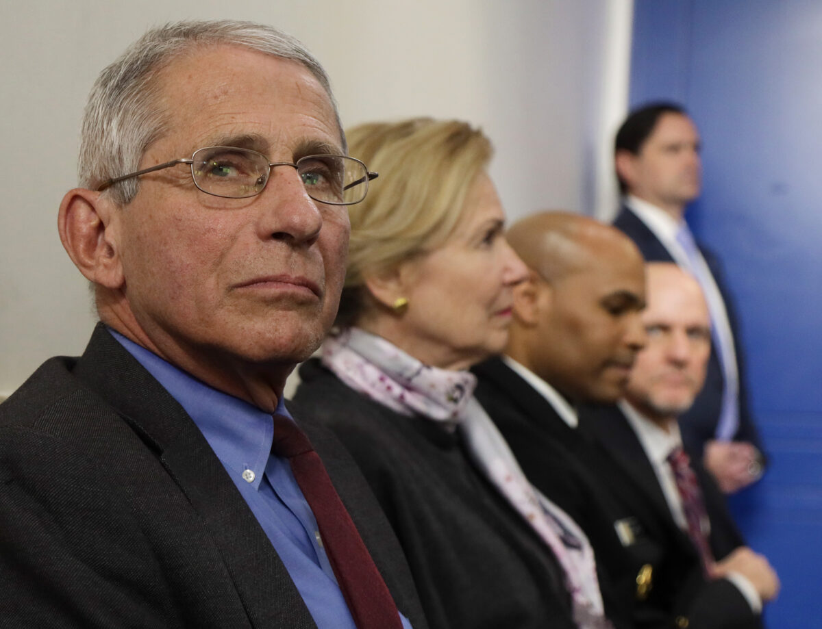 Dr. Anthony Fauci director of the National Institute of Allergy