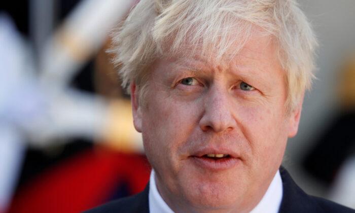 British Prime Minister Boris Johnson in Paris, France, on Aug. 22, 2019. (Gonzalo Fuentes/Reuters)