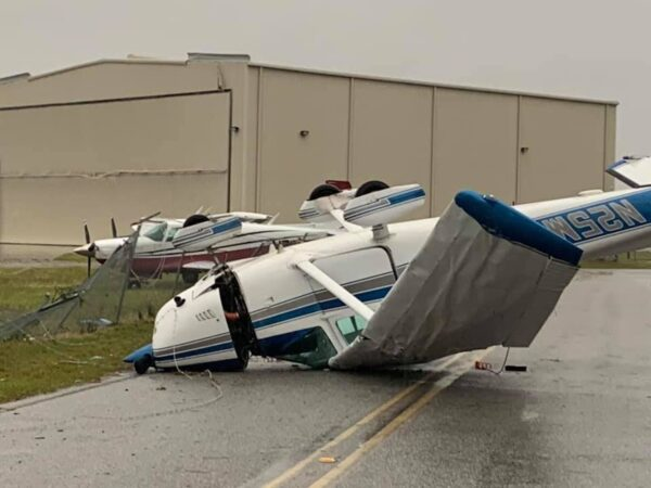 Damage at Lowcountry Regional Airport