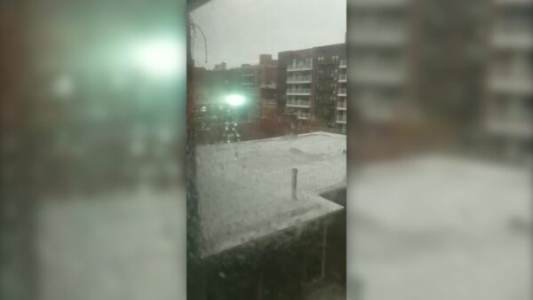 Powerlines spark in Astoria, Queens,