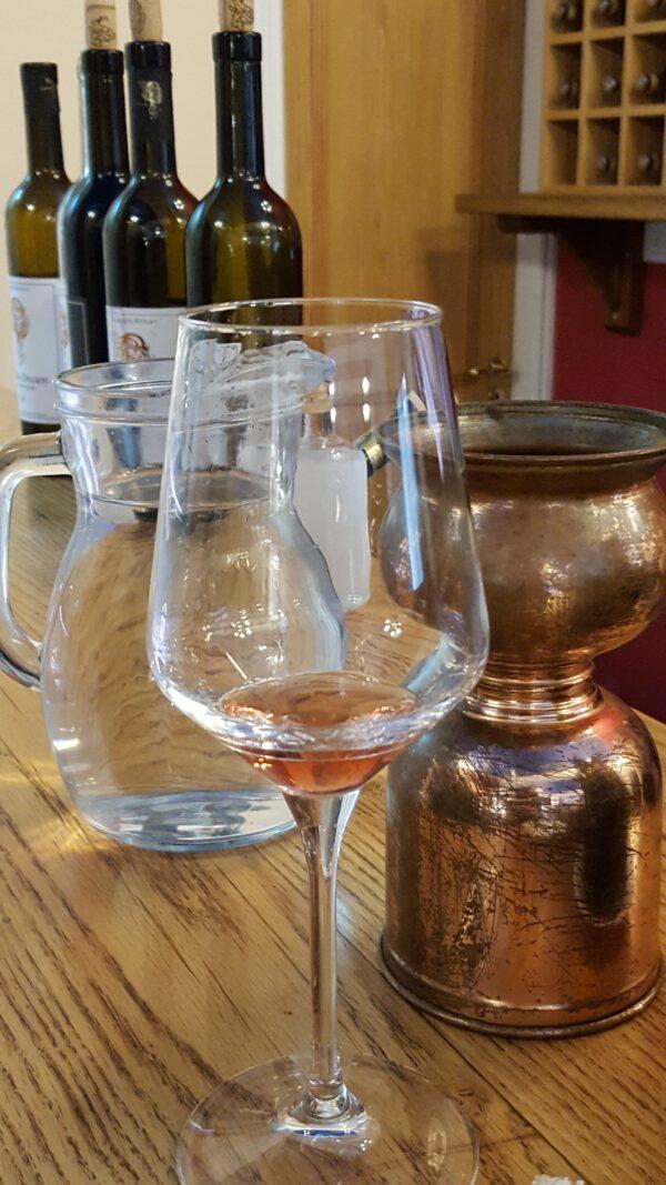 wine tasting at Lambouri Winery
