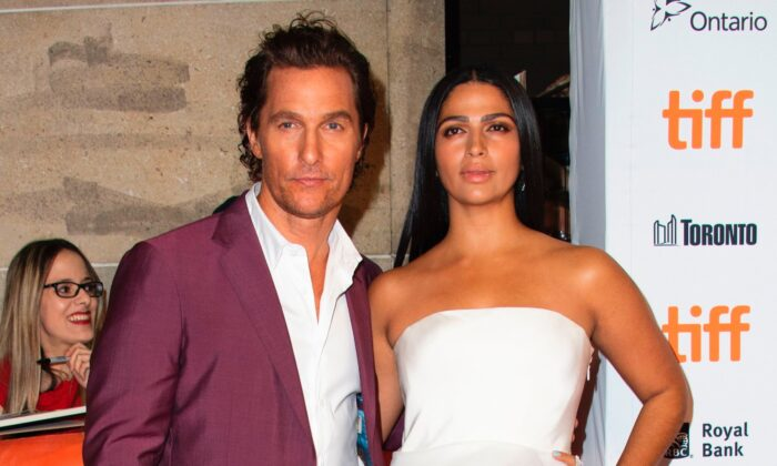 """Actor Matthew McConaughey and his wife US/Brazilian model Camila Alves attend the premiere of """"White Boy Rick"""" during the Toronto International Film Festival in Canada on Sept. 7, 2018. (Valerie Macon/AFP/Getty Images)"""
