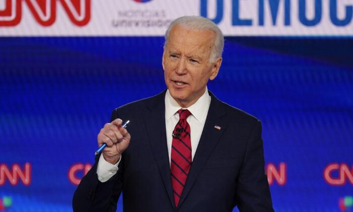 Former Vice President Joe Biden on March 15, 2020. (Evan Vucci/AP Photo)