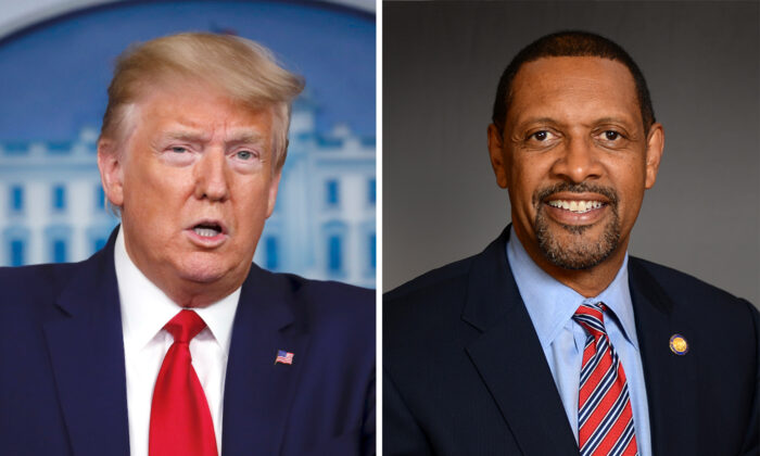 President Donald Trump (L) (Alex Brandon/AP Photo) and Vernon Jones (Georgia House of Representatives)