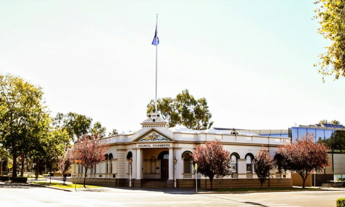 Wagga Wagga Historic Council Chambers on May 5, 2019. (Jenny Evans/Getty Images)