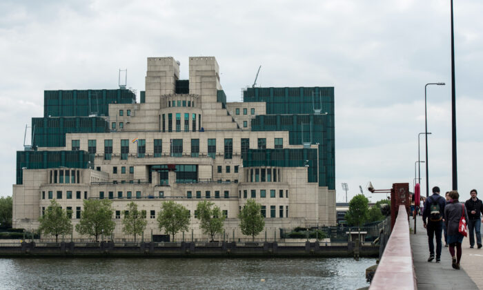 The MI6 building at Vauxhall, headquarters of the British Secret Intelligence Service, in London on May 17, 2016. (Chris Ratcliffe/Getty Images)
