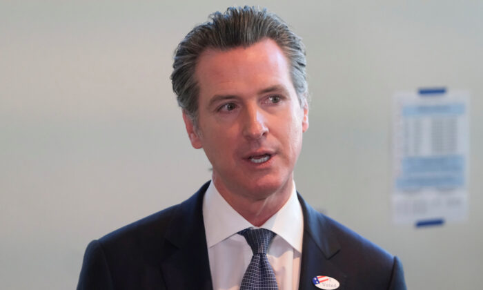 California's Governor Gavin Newsom speaks to the media in Sacramento, California, on March 3, 2020. (Reuters/Gabriela Bhaskar)