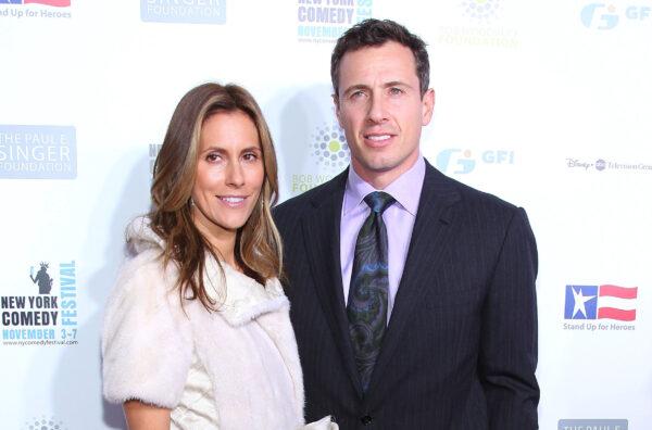 Chris Cuomo (R) and wife Cristina Greeven Cuomo