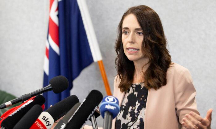 New Zealand Prime Minister Jacinda Ardern during a news conference in Christchurch, New Zealand, on March 13, 2020. (Martin Hunter/Reuters)