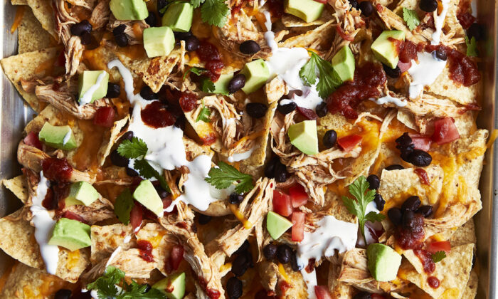 Cilantro lime chicken nachos. (Courtesy of From Freezer to Cooker)