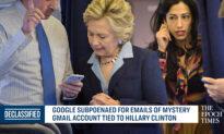 Google Subpoenaed Over Hillary Clinton's Emails