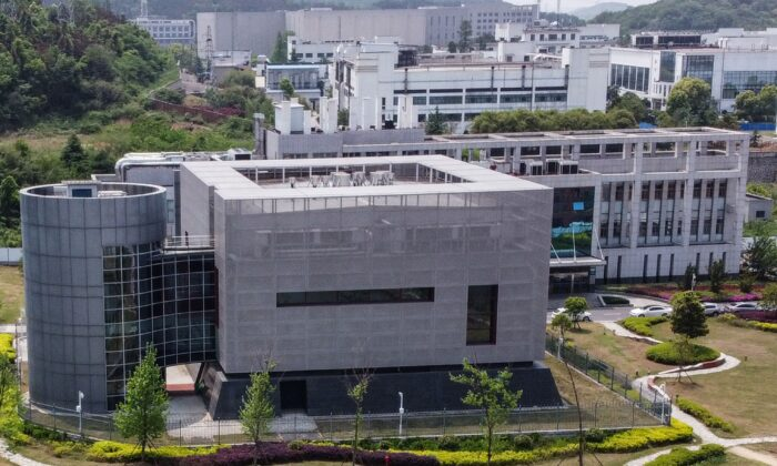 An aerial view shows the P4 laboratory at the Wuhan Institute of Virology in Wuhan in China's central Hubei province on April 17, 2020. (Hector Retamal/AFP/Getty Images)