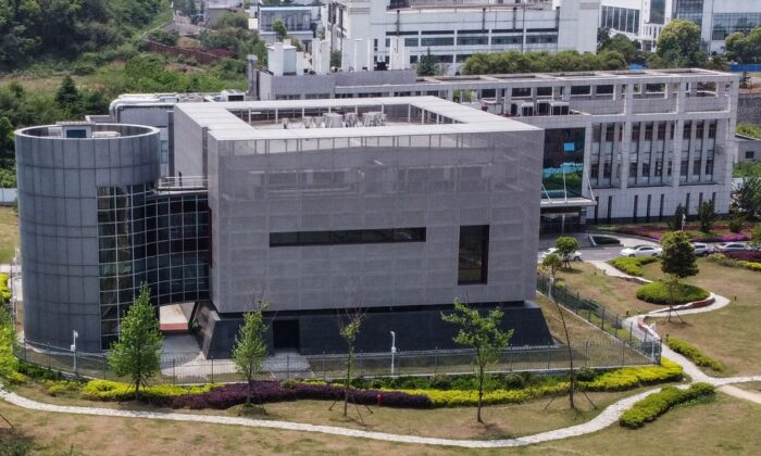 The P4 laboratory at the Wuhan Institute of Virology in Wuhan in China's central Hubei Province on April 17, 2020. (Hector Retamal/AFP/Getty Images)