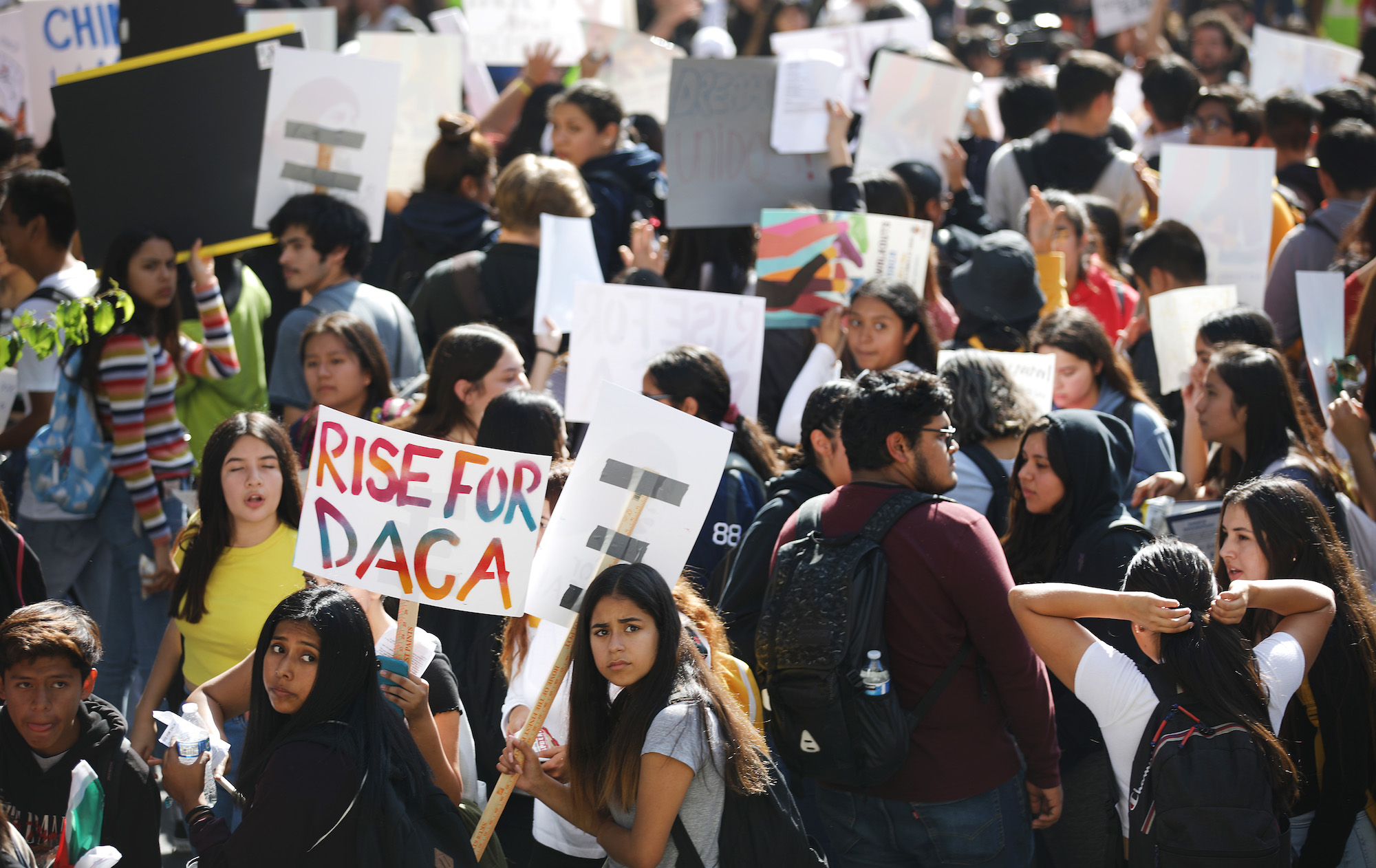 Rally Held For DACA Recipients In Los Angeles On Day Supreme Court Hears Case