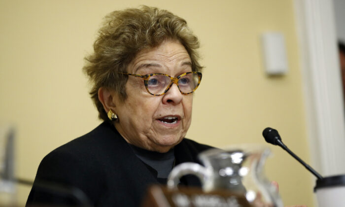 Rep. Donna Shalala (D-Fla.) speaks during a House Rules Committee hearing on Capitol Hill in Washington on Dec. 17, 2019. (Patrick Semansky, Pool/AP Photo)
