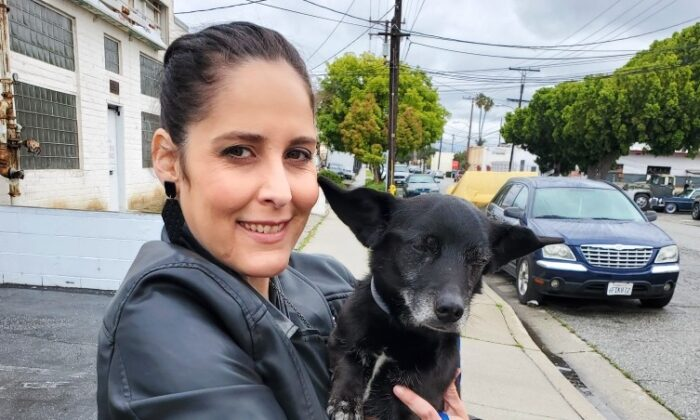 April Misloski, with her new pet, an 11-year-old Dachshund-mix from the Society for the Prevention of Cruelty to Animals (SPCA) in Los Angeles. (Courtesy of April Misloski)