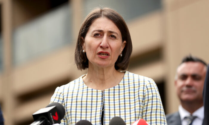 New South Wales Premier Gladys Berejiklian addresses the media during a press conference to update on COVID-19, at NSW Parliament House on March 17, 2020 in Sydney, Australia. (Mark Metcalfe/Getty Images)