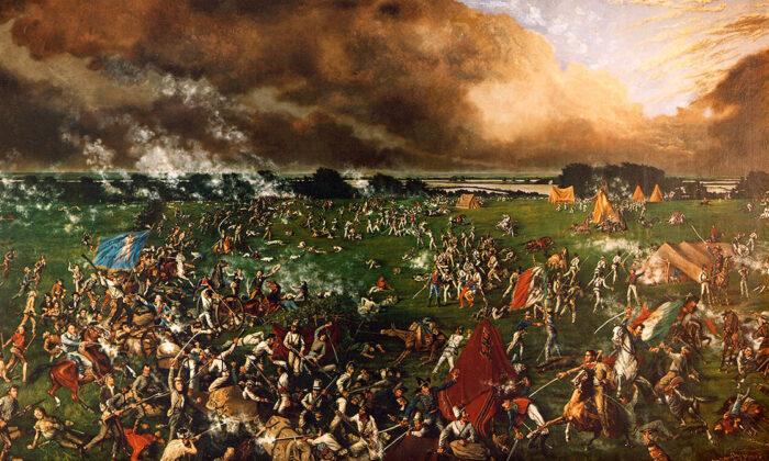 """Battle of San Jacinto"" by Henry Arthur McArdle, 1895. (Public domain)"